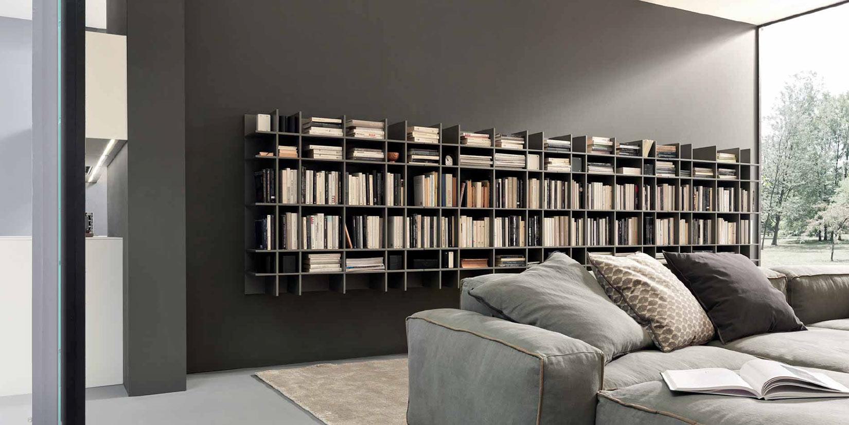 Pareti attrezzati e librerie spazio ambiente sa locarno for Ballarini arredamenti